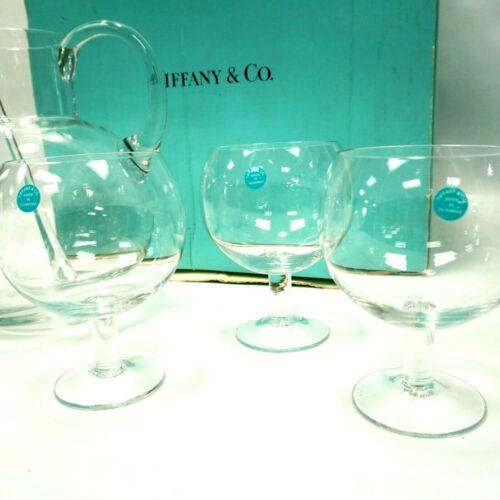 TIFFANY & CO. REFRESHER SET 68 OZ PITCHER & 6 13 OZ CRYSTAL STEM GLASSES