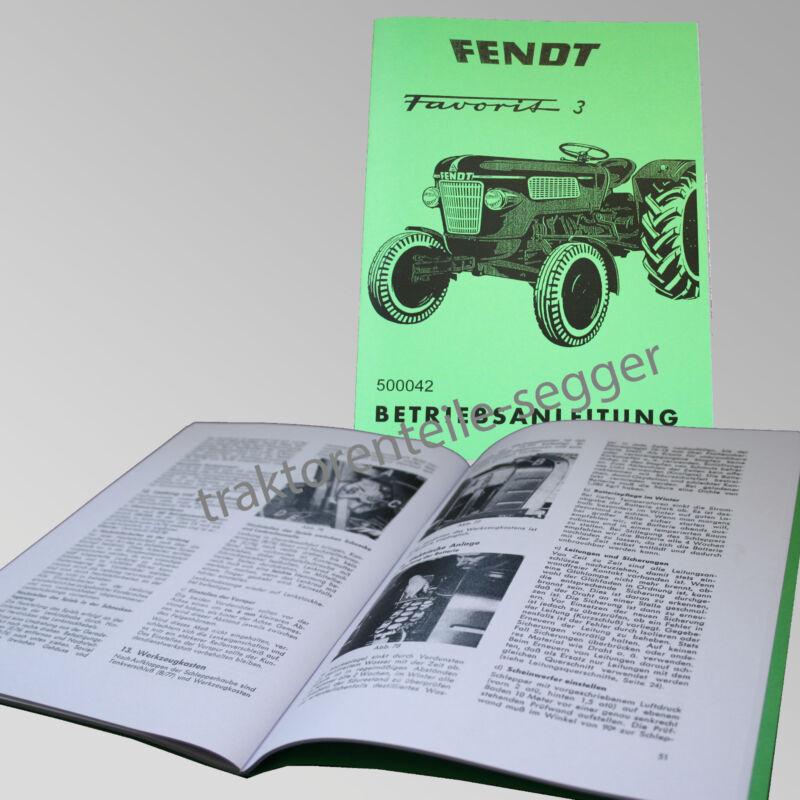 Fendt Betriebsanleitung  Favorit 3 Traktor Schlepper 500042 Foto 1
