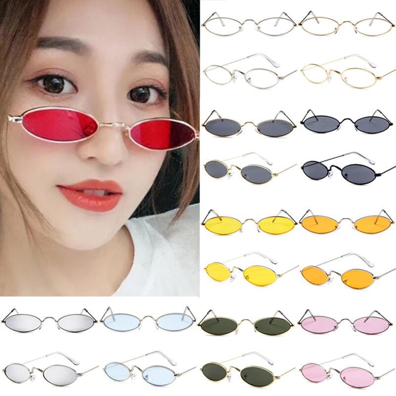 Oval Sonnenbrille Damen Herren Kleine Rahmen Nickelbrille Vintage Retro Brille