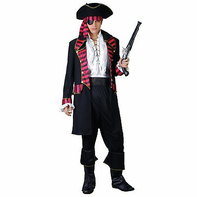 Deluxe Pirate Captain Ship Fantasy Island Hook Adults Mens Fancy Dress Costume](Fantasy Island Halloween)