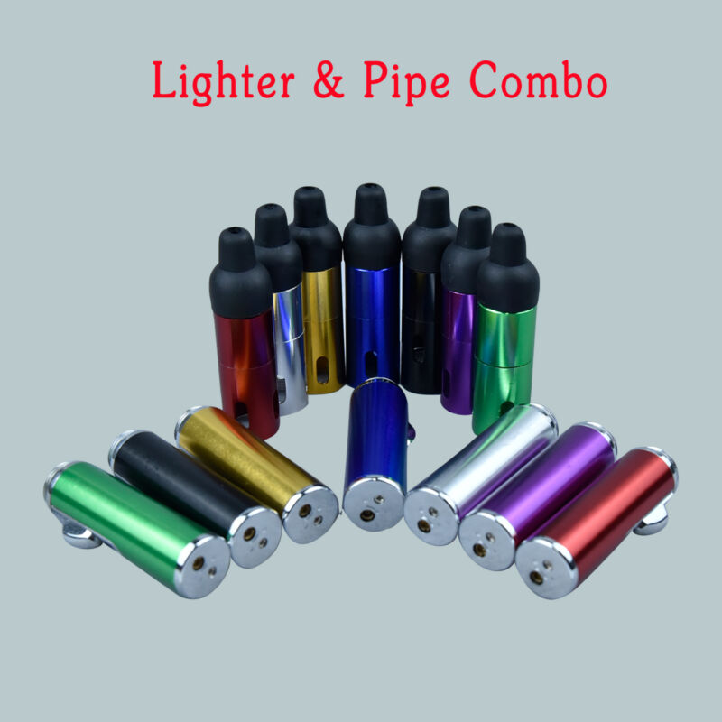 Click-n-Hit Portable Jet Torch Flame Lighter Wind-Proof w/ Sneak-a-Toke Chambers