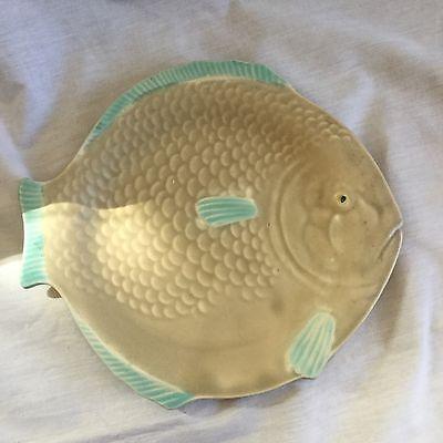 VINTAGE SHORTER & SONS ART DECO FISH PLATE