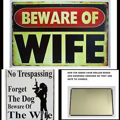 Tin signs 2 pc SET Funny Warning Beware No Trespassing Metal Plaques Retro Decor 2 Retro Signs