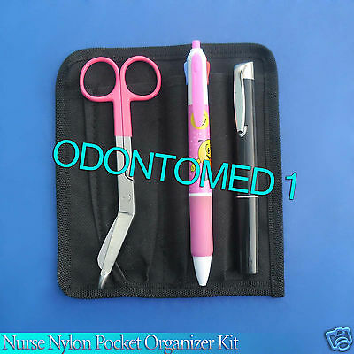 Nurse Nylon Pocket Organizer Kit - Magenta Color Royal
