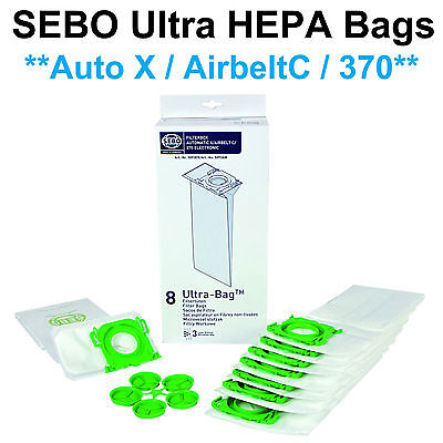 Sebo X, G, C, 370 Ultra Vacuum Bags *HEPA Style # 5093AM (8pk) *Genuine SEBO