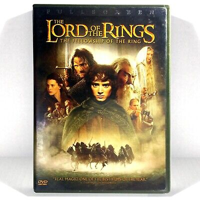 The Lord of the Rings: Fellowship of Ring (2-Disc DVD, 2003, Full Screen)