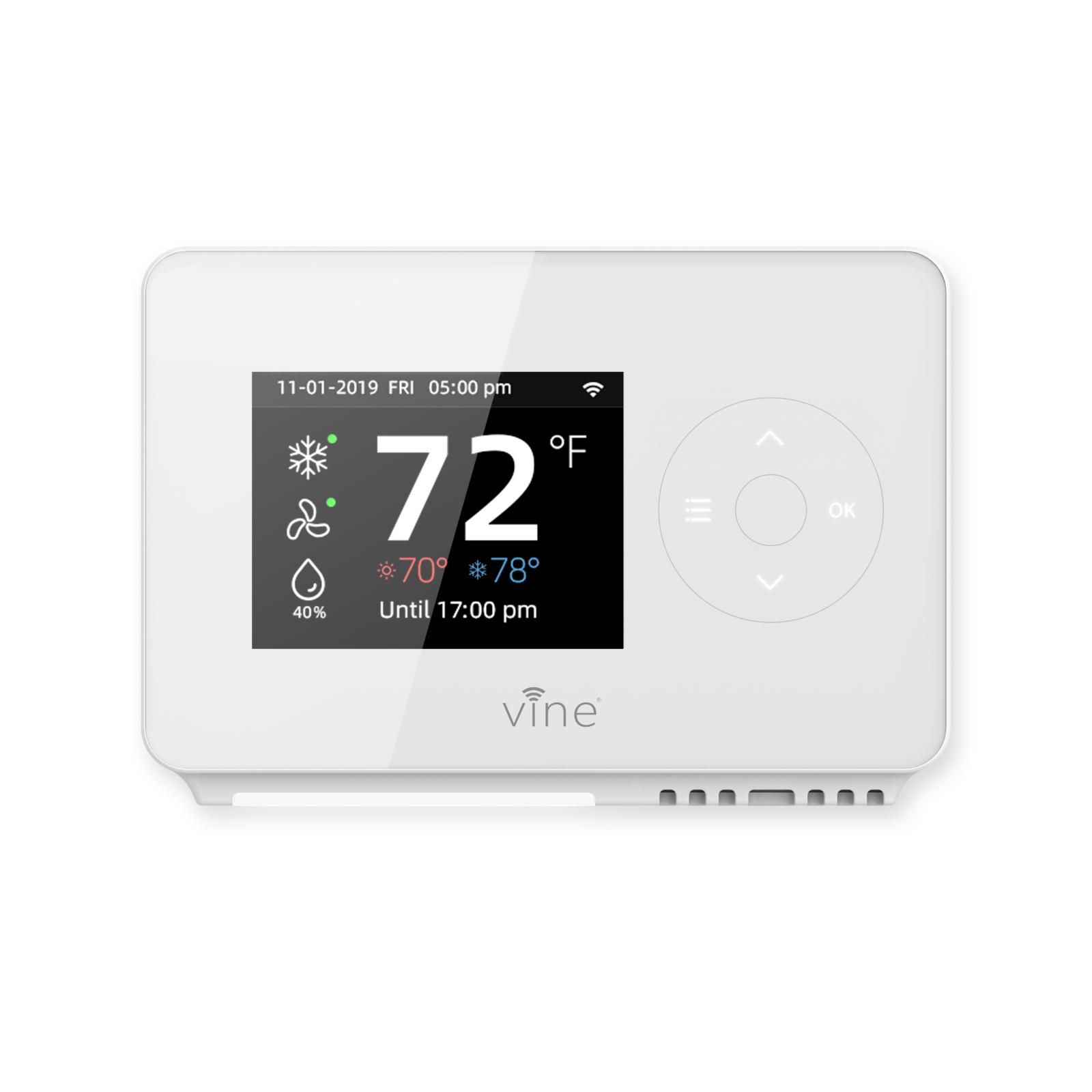 Vine Smart Wifi 7day/8period Programmable Thermostat App con