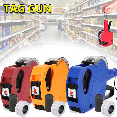 8 Digits Price Tag Gun Mx5500 Eos W Sticker Labels Ink Refill For Retail Shop