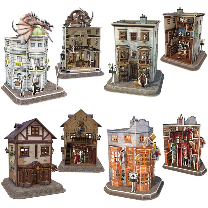 Harry Potter 3D Puzzles Jigsaw Officially Licensed Diagon Alley Buildings