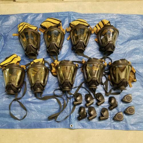 Lot of 9 MSA SCBA Ultra Elite MEDIUM Full Face Respirators