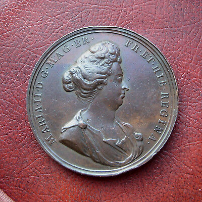 Death of Queen Mary 1694 copper medal
