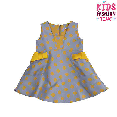RRP €205 MIMISOL Satin A-Line Dress Size 2Y / 92CM Silk Blend Made in Italy