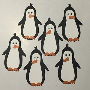 Penguin Penguins Animal Christmas Snow Zoo Die Cuts (Scrapbook/Cards)