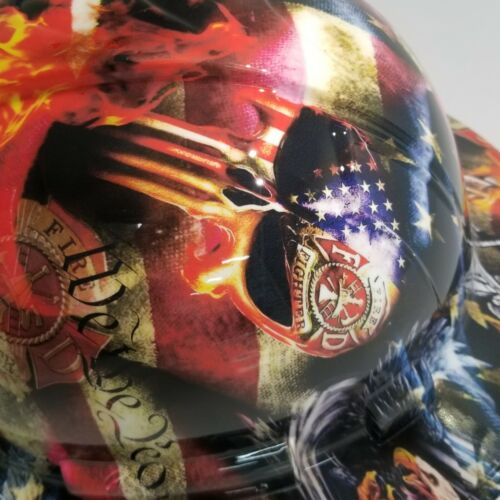 NEW FULL BRIM Hard Hat custom hydro dipped in , FIREFIGHTER FIRST IN , LAST OUT 6