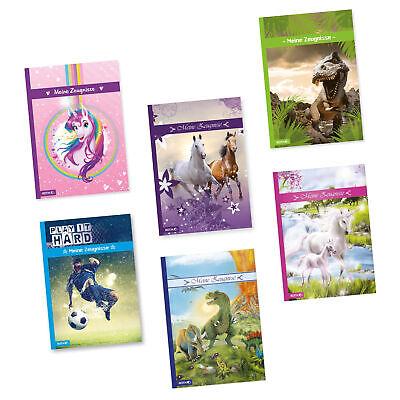 Roth Zeugnismappe A4 10 Hüllen Motiv für Mädchen u Jungen Einhorn Dinosaurier ()