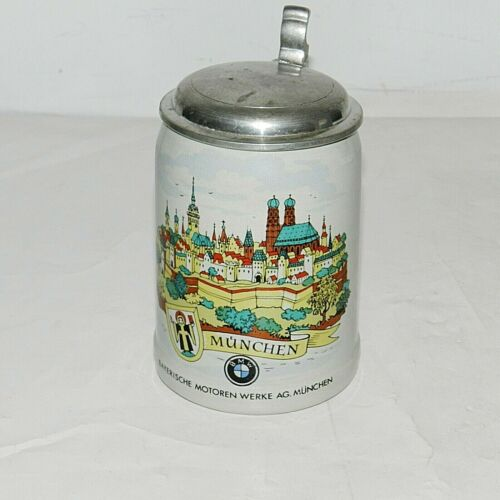 VTG Collectable BMW Beer Stein Historic Munchen, Made In W. Germany Very Rare!!