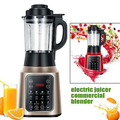 Multi-function Commercial Blender Smoothie Juice Shakes Mixer 800w 1.75l Heating