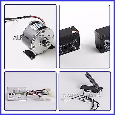 24 Volt Electric Motor Kit W Batteries Speed Control Box Foot Pedal Throttle