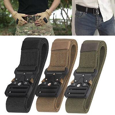 Herren Armee Militär Taktischer Gürtel Tactical Belt Nylon Metallschnalle