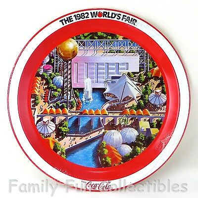COCA COLA~1982 World's Fair~Serving Tray~Knoxville TN~Coke Advertising Sign~MIP