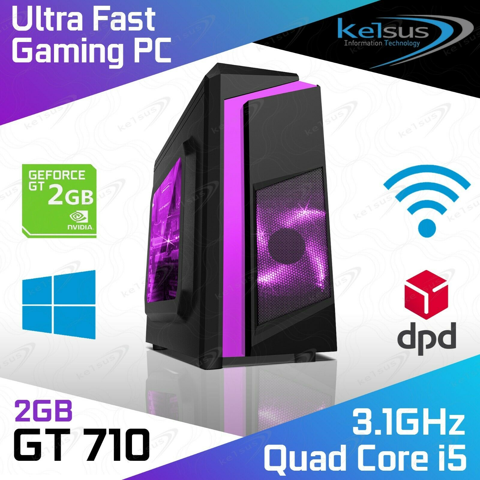 Computer Games - Ultra Fast Core i5 Gaming Computer 16GB RAM 2TB HDD 480GB SSD Windows 10 PC HDMI