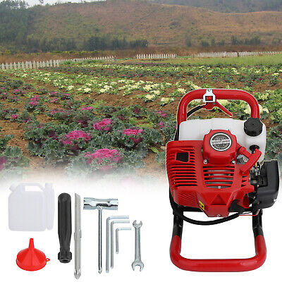 52cc 2-stroke Gasoline Gas One Man Post Hole Digger Earth Auger Machine 2hp