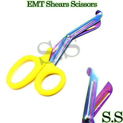 Rainbow Shears - Rainbow Blade Tactical shears Emt Scissors Medical 7.5'' Yellow Handle Aid tool