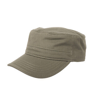 Brain Waves Military Army Cap Kappe Mütze Top Passform Verstellbar Olive NEW Military Cap Olive