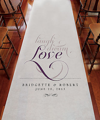 Expressions PERSONALIZED Aisle Runner Wedding Ceremony Decoration  - Personalized Wedding Aisle Runner