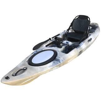 Bathurst kayak 3.6M pro kayak with vintage armchair and paddle