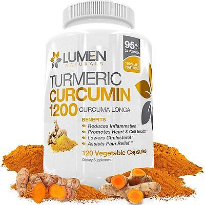 Turmeric Curcumin Extra Strength 1200mg with Bioperine (Black Pepper) - 120 F...