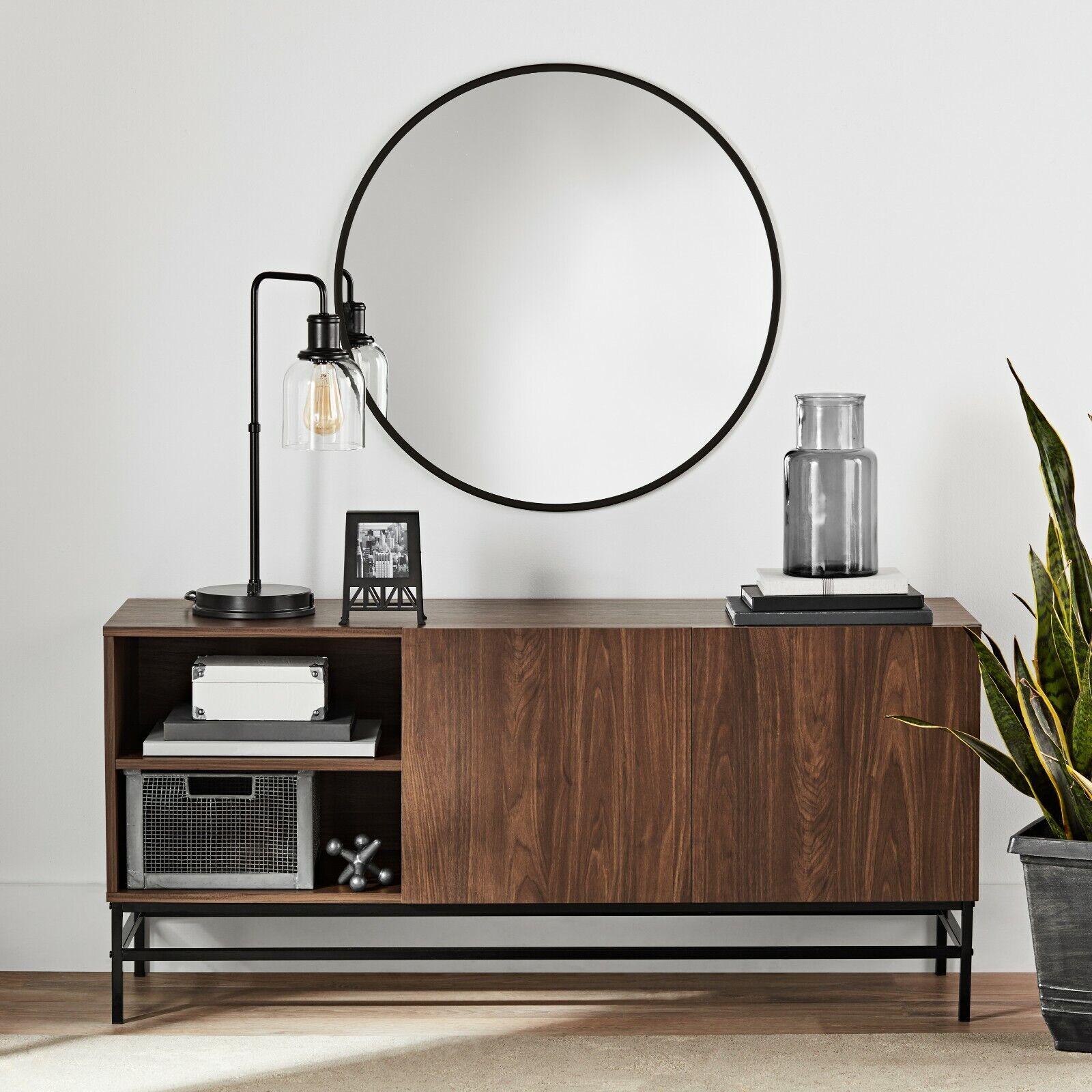Smart TV Stand Credenza Buffet Table Sideboard Storage Door
