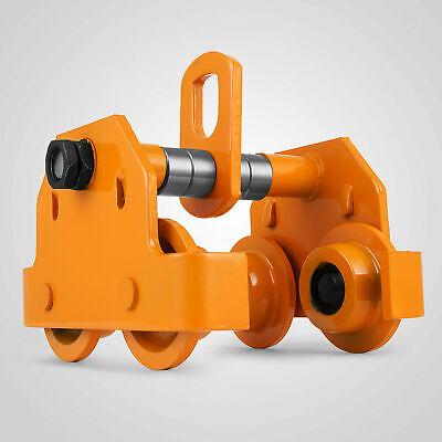 1t Dual Wheel Push Beam Trolley Hoist Winch Crane Lift Fits I Beams Adjustable