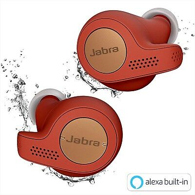 Jabra Elite Active 65t Alexa Wireless earphone BT5.0 Microphone Copper Red NEW for sale  Shipping to United States