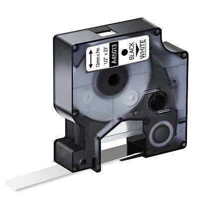 Black On White Label Tape 12 For Dymo D1 45013 Labelmanager 100 160 S0720530