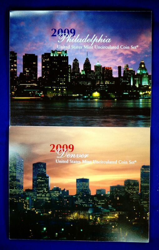 """2009 Mint Set. The Complete & Original 36 Coin Set with 18 each """"P"""" and """"D"""" mint"""