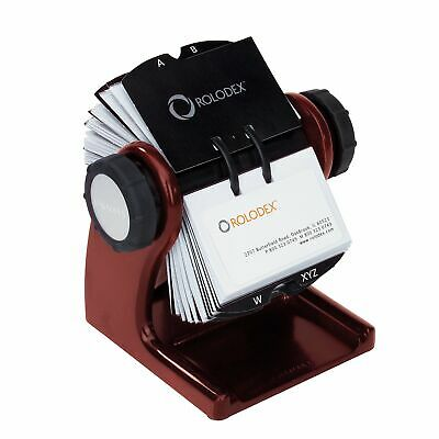 Rolodex Wood Tones Collection Open Rotary Business Card File 2.63 By 4 Inch..