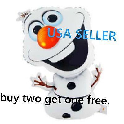 FROZEN Olaf Snowman Birthday Party Decor MYLAR Foil Balloon 44*70CM - Olaf Birthday