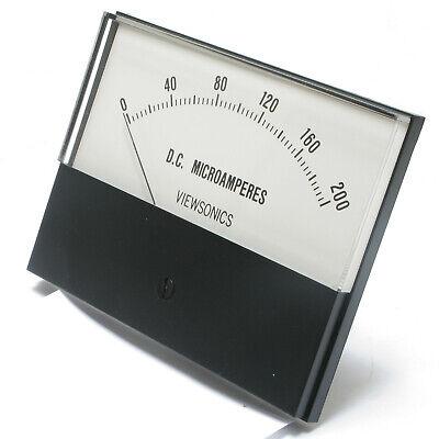 Analog Panel Meter 0 - 200 Microamperes Dc 4.5 Inch