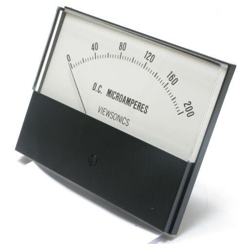 Analog Panel Meter, 0 - 200 microamperes DC, 4.5 inch