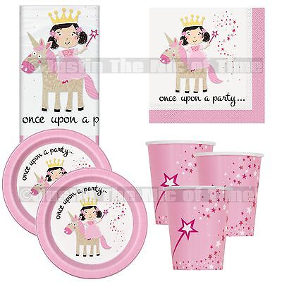 Magical Unicorn & Princess Birthday Girls Pink Party Supplies Tableware
