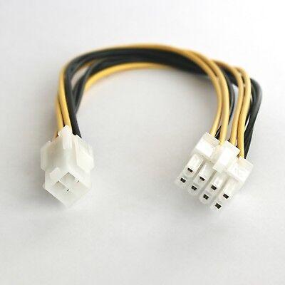 ATX 2.0 Strom-Adapter-Kabel P4 / EPS-Stecker 8/4 PC-Netzteil intern 8-pol 4-pin