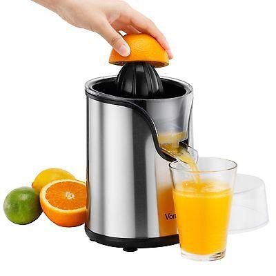 VonShef Electric Citrus Fruit Juicer Stainless Steel