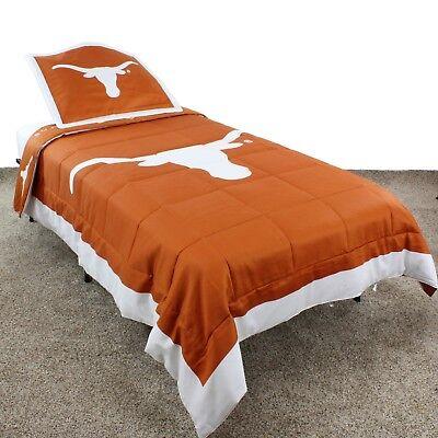 Texas Longhorns Reversible Comforter Set w/Shams Twin, Full, Queen or King Texas Longhorns Comforter