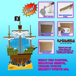 pirate ship lifesize cardboard standup standee cutout sc715 pirate ship little ebay. Black Bedroom Furniture Sets. Home Design Ideas