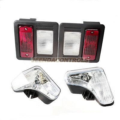 Headlight Tail Light Kit W Bulbs Lens Lamp Skid Steer For Bobcat T450 T550 T590