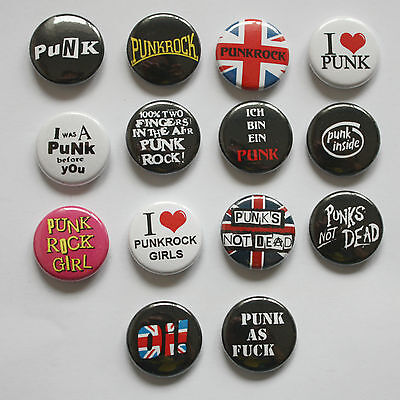 PUNK Buttons / Punkrock Button / Badge Oi Logo Pin Anstecker 25 mm mit Nadel