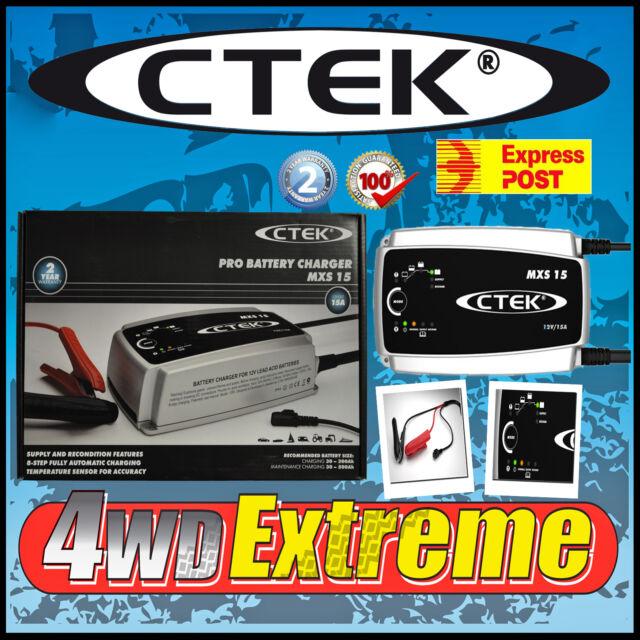 NEW MODEL MXS15 CTEK 12 VOLT 15AMP BATTERY CHARGER CARAVAN AGM REPLACES XS15000