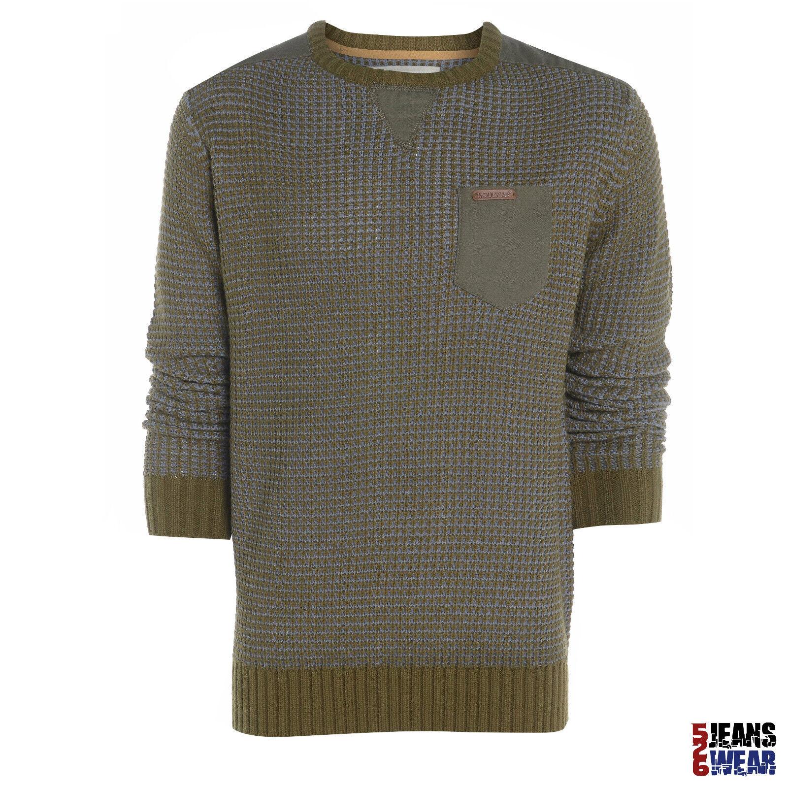 Uomini Maglione Girocollo Soul Star A maglia slim Fashion Inverno Pullover