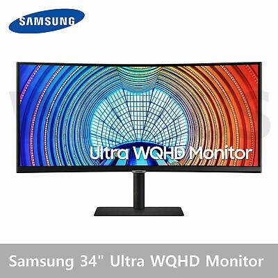 "Samsung S6 S34A650U 34"" Ultra WQHD Curved Monitor 1000R 90W 21:9 - Tracking"